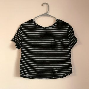Striped Crop Top 🔲